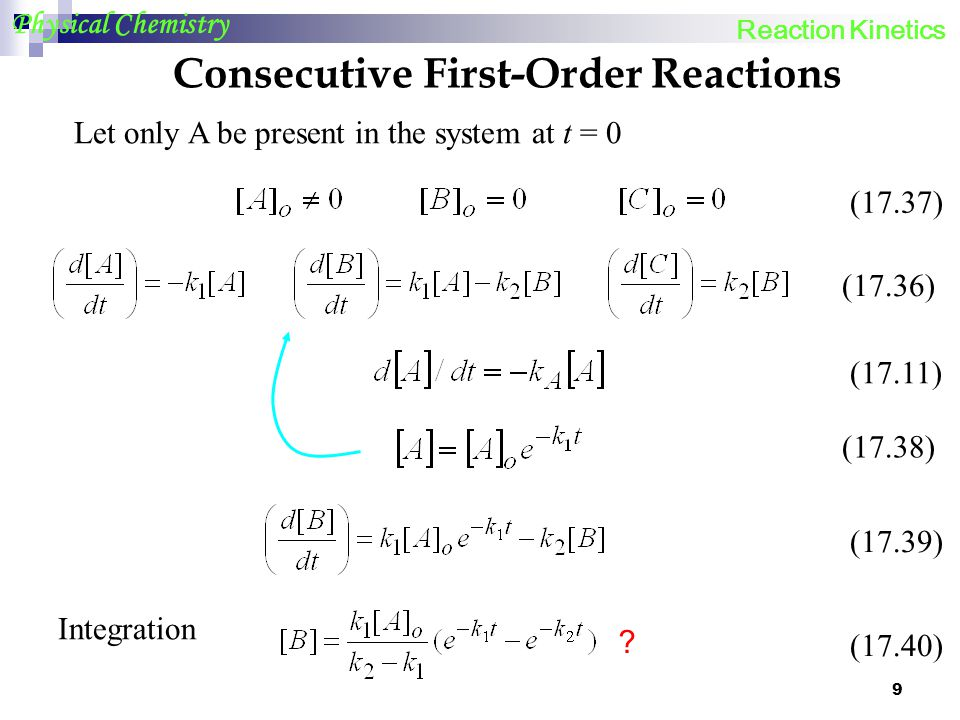 Consecutive First-Order Reactions