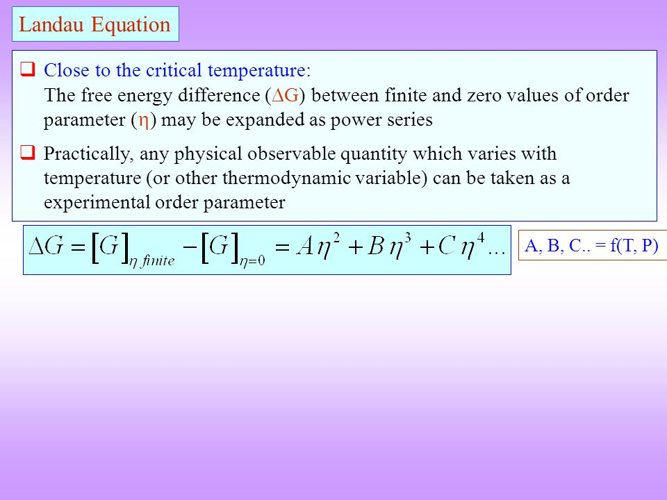 Landau Equation