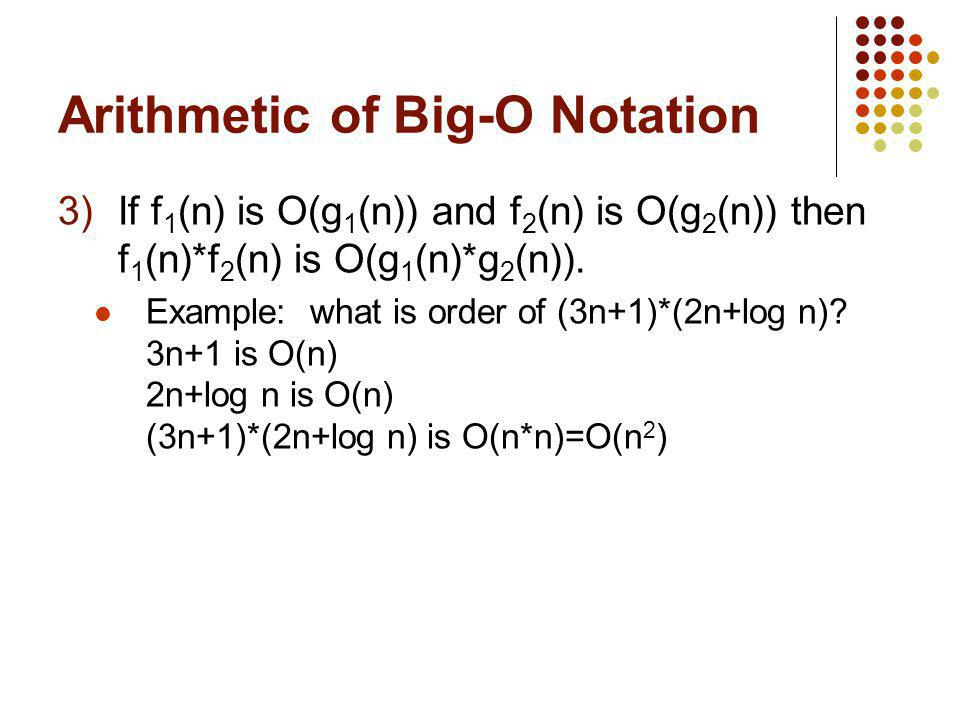Arithmetic of Big-O Notation