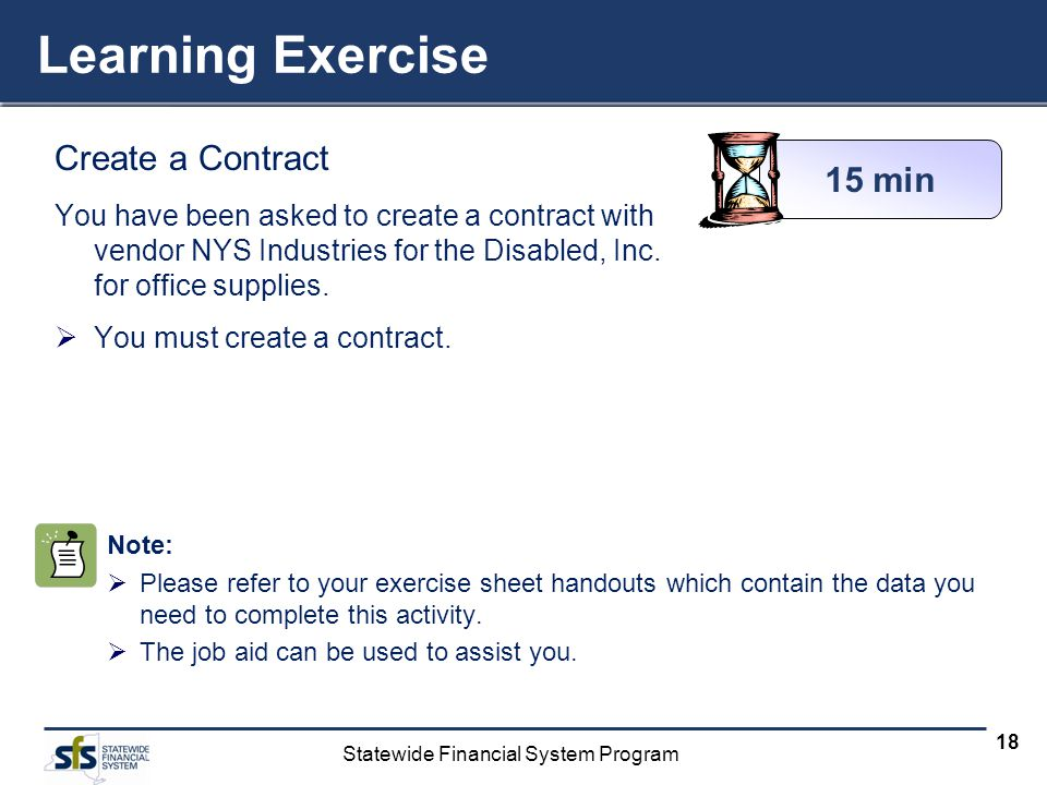 Learning Exercise Create a Contract 15 min