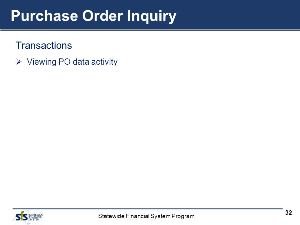 Purchase Order Inquiry