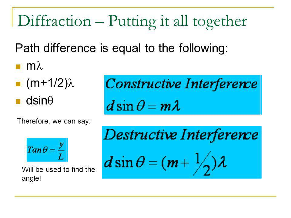 Diffraction – Putting it all together