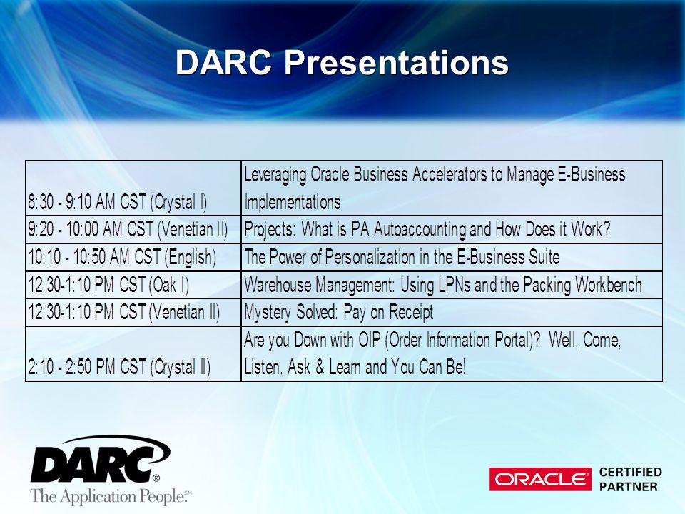 DARC Presentations