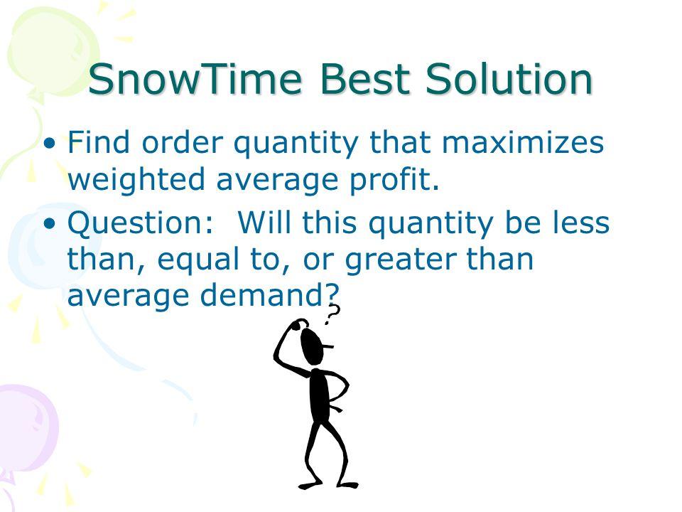 SnowTime Best Solution