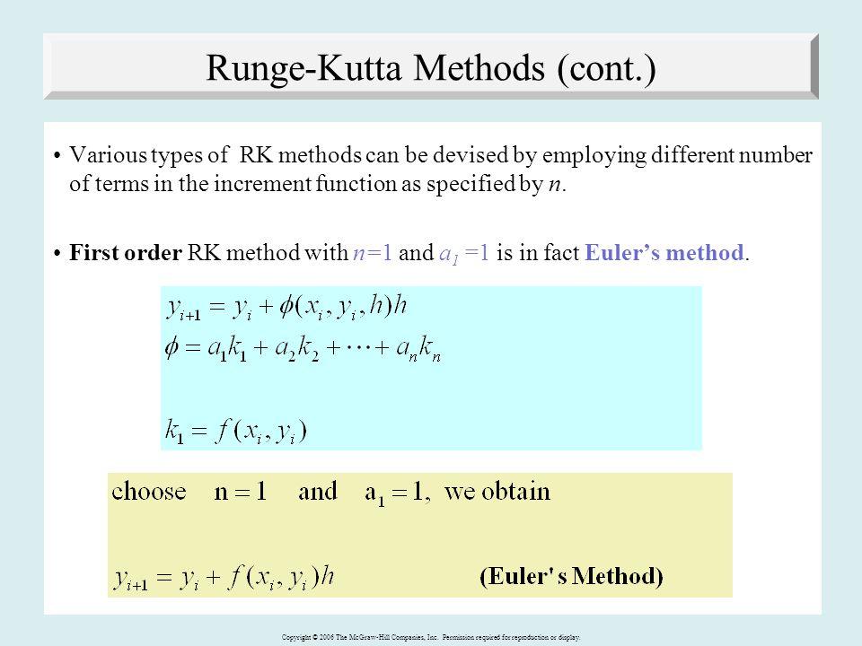 Runge-Kutta Methods (cont.)