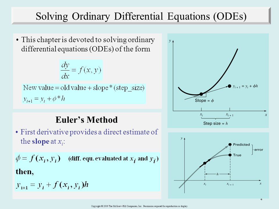 Solving Ordinary Differential Equations (ODEs)