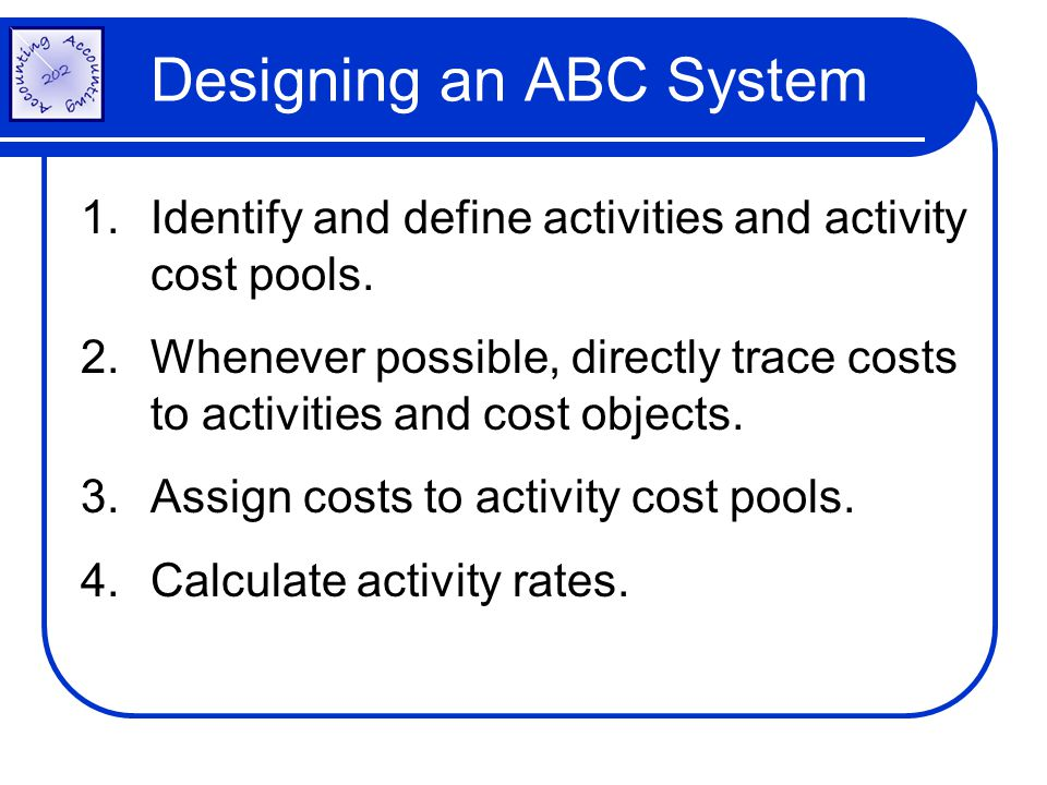 Designing an ABC System