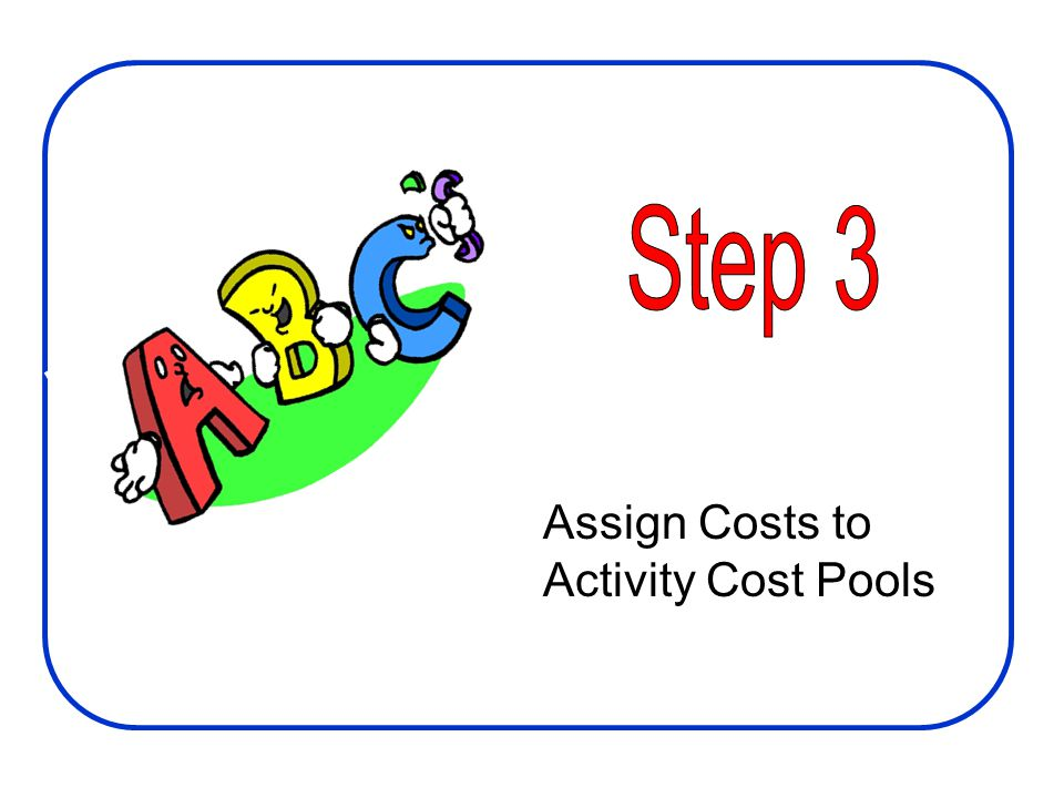 Step 3 Assign Costs to Activity Cost Pools