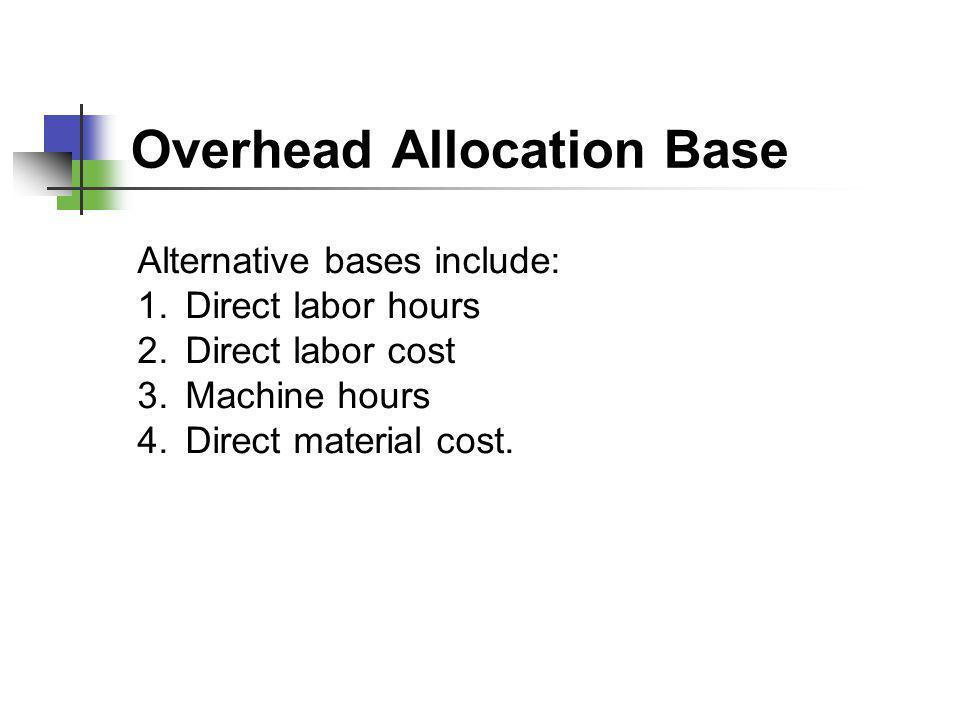 Overhead Allocation Base