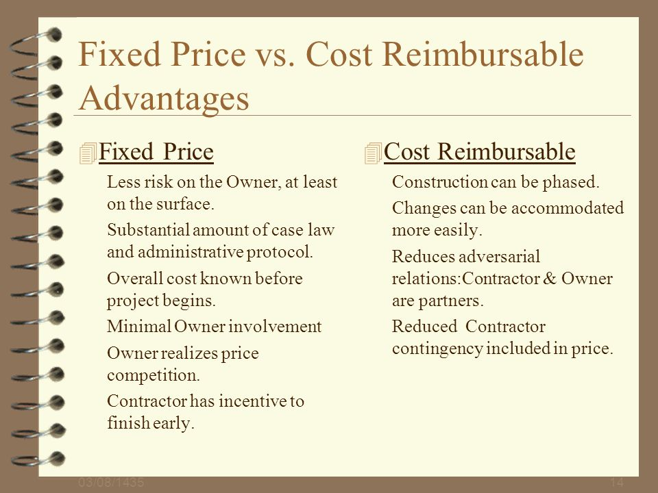 Contracts change order administration and claims for Fixed price construction contract