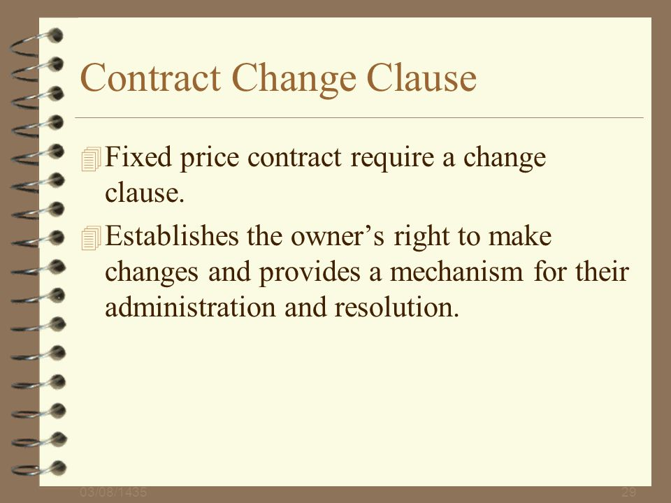 Contract Change Clause