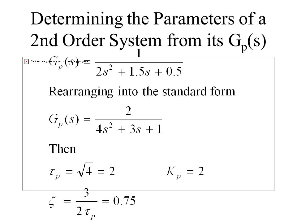 Determining the Parameters of a 2nd Order System from its Gp(s)