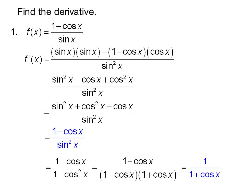 Find the derivative.