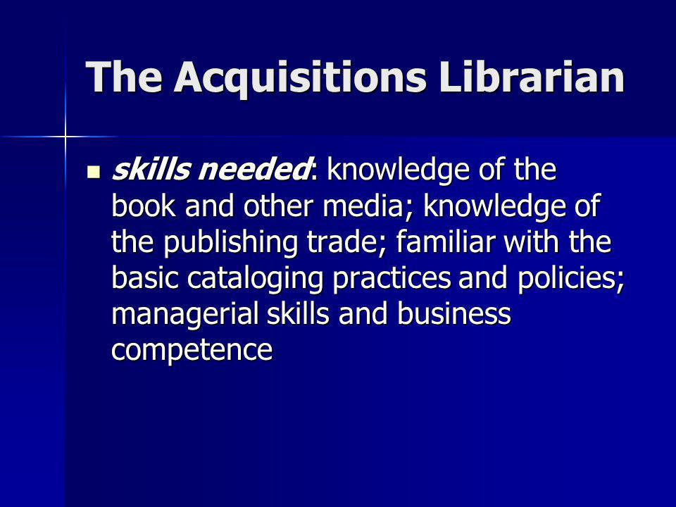 The Acquisitions Librarian