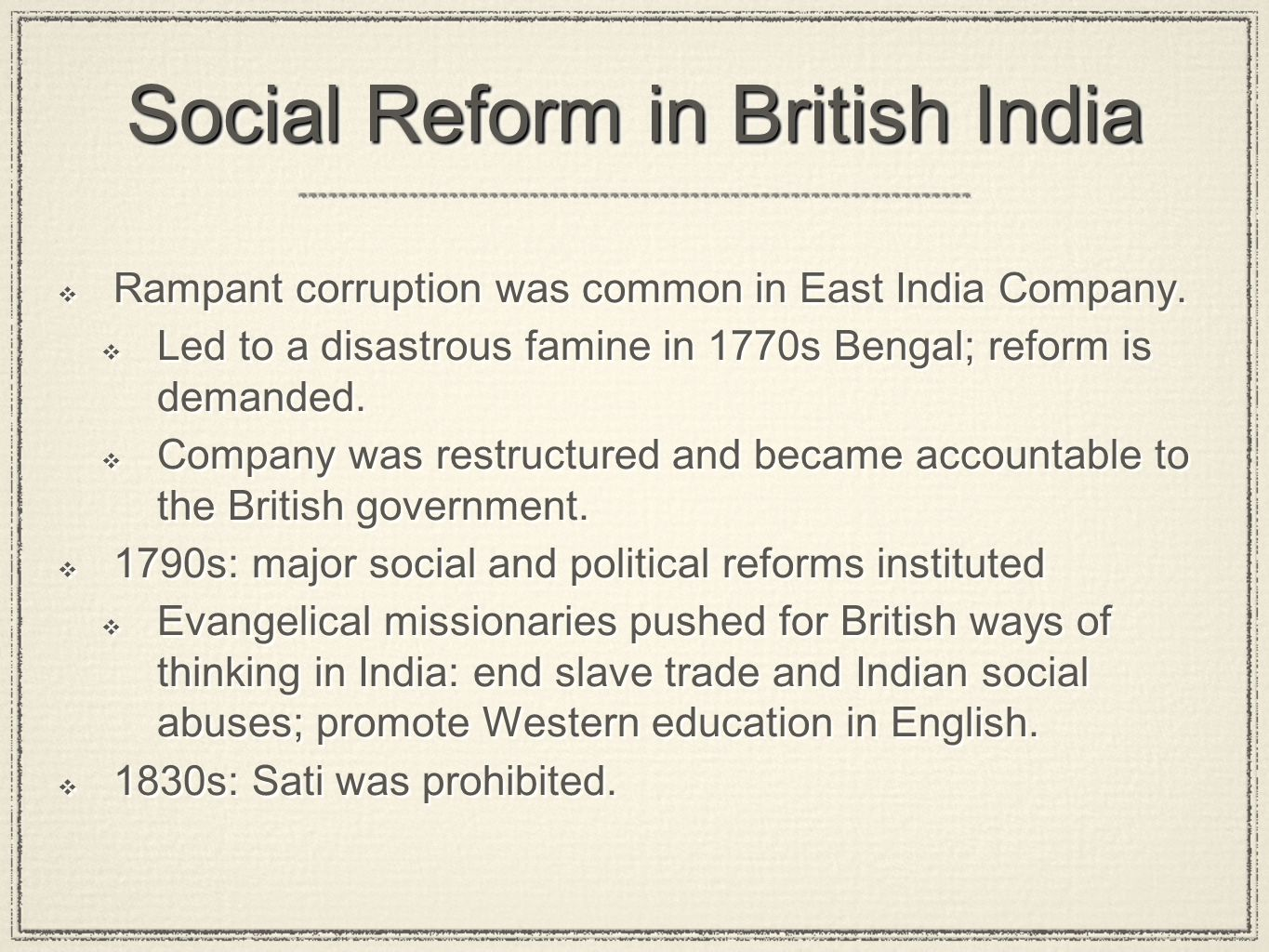 Social Reform in British India