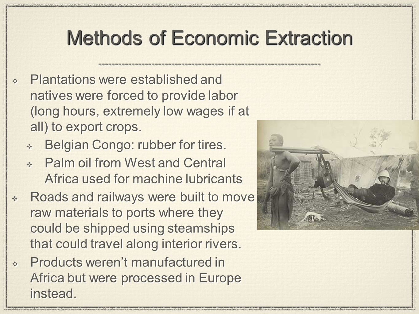 Methods of Economic Extraction