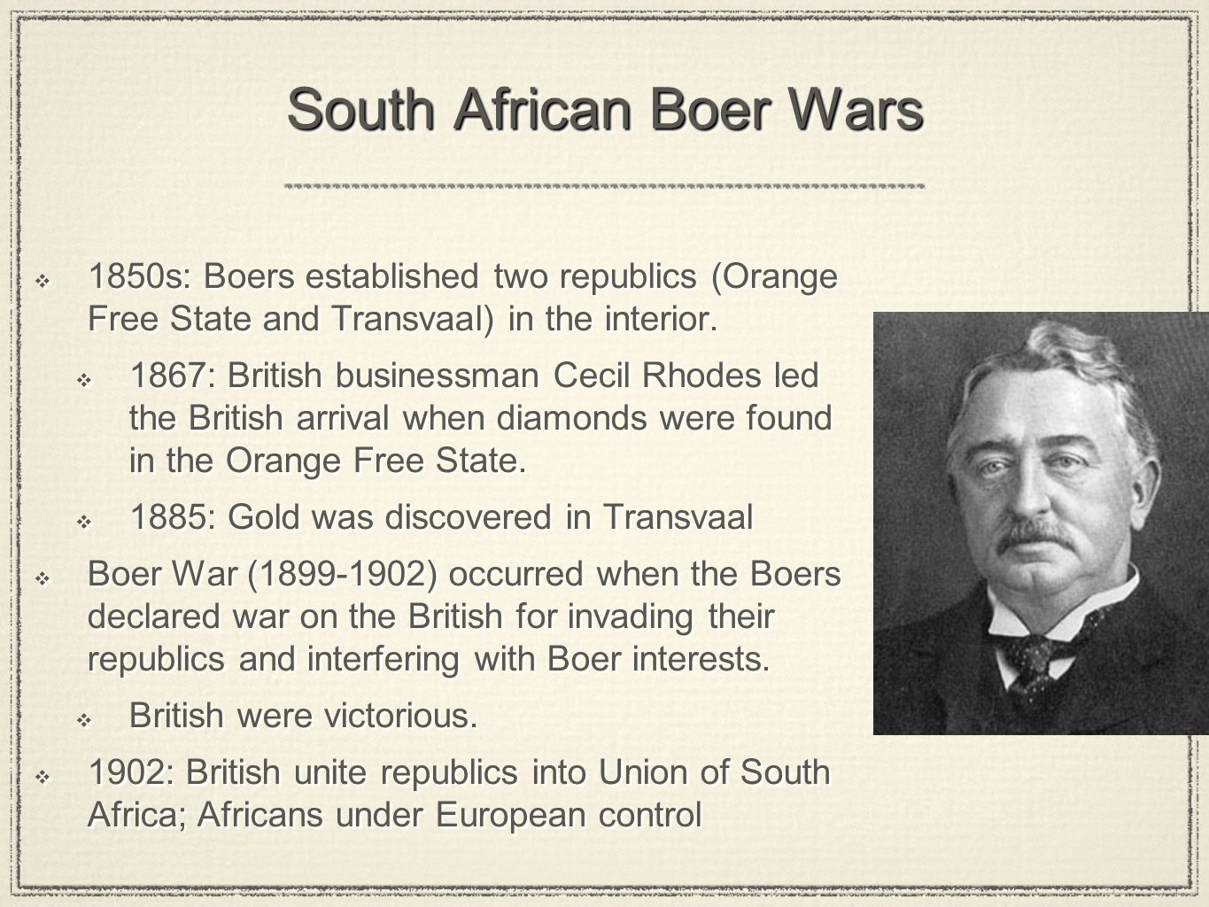 South African Boer Wars