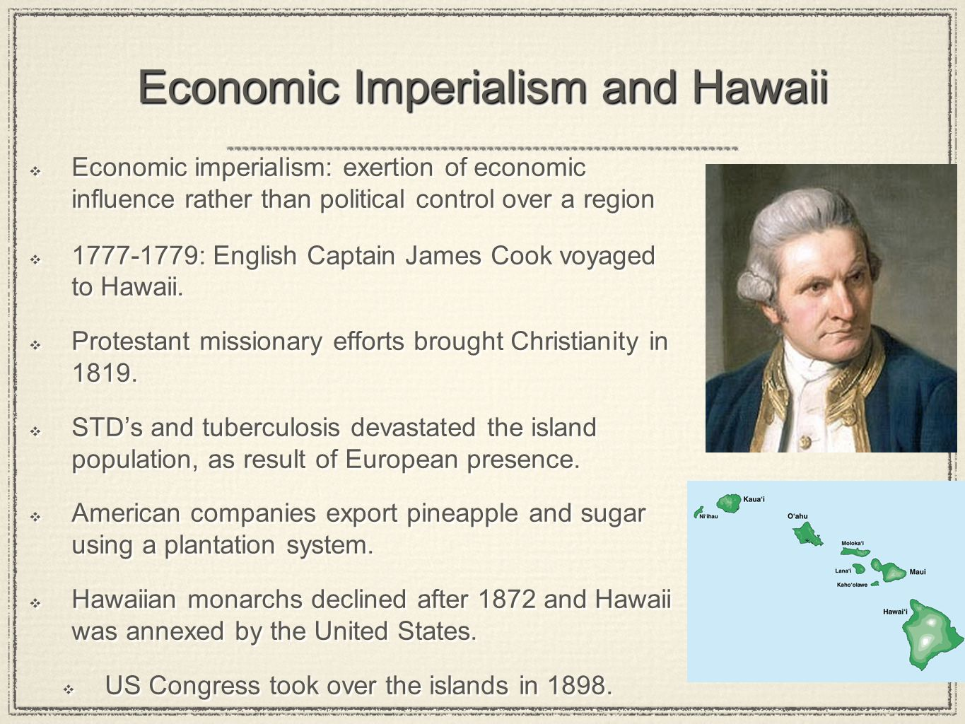 Economic Imperialism and Hawaii