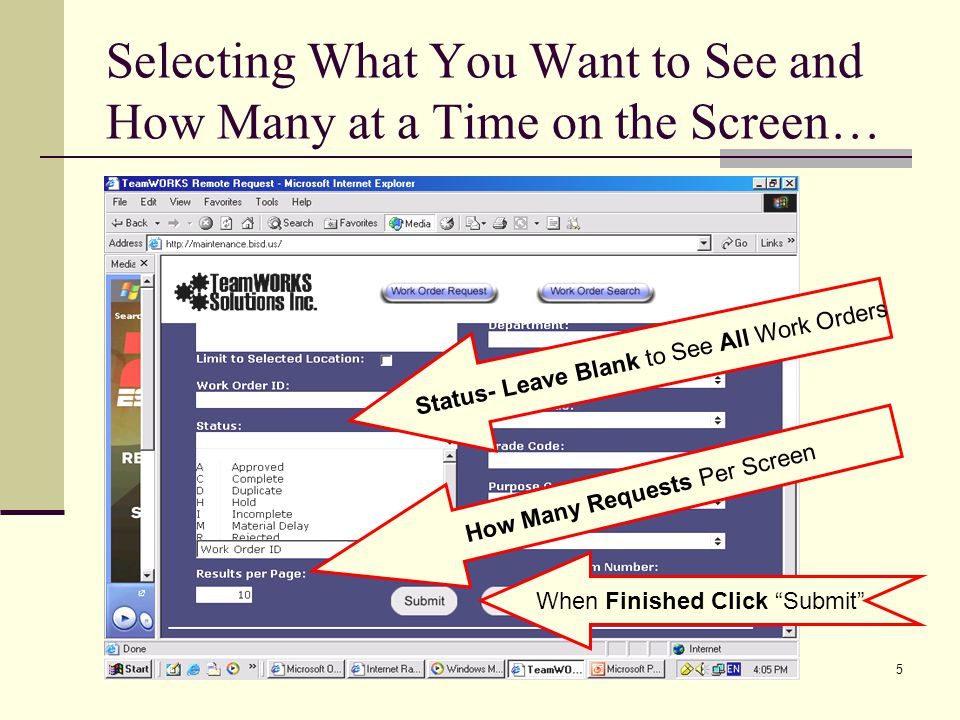 Selecting What You Want to See and How Many at a Time on the Screen…