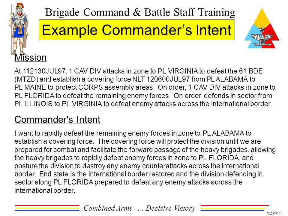 Example Commander's Intent