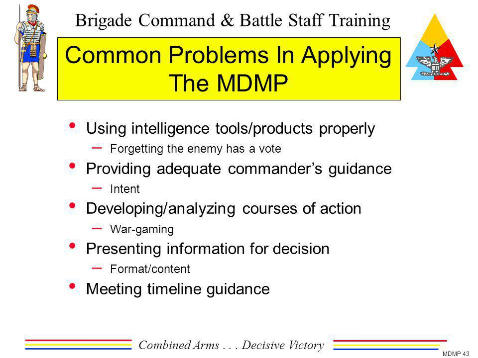 Common Problems In Applying The MDMP