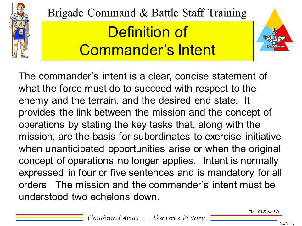 Definition of Commander's Intent
