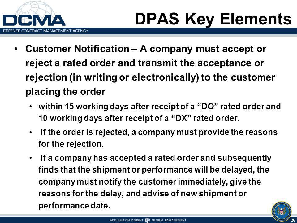 DPAS Key Elements