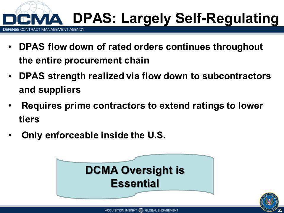 DPAS: Largely Self-Regulating