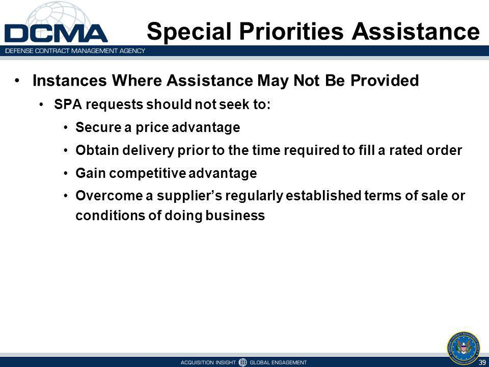 Special Priorities Assistance