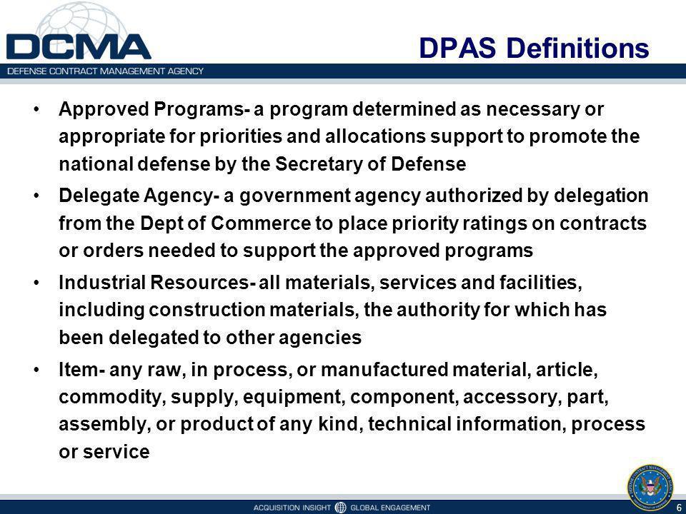 DPAS Definitions