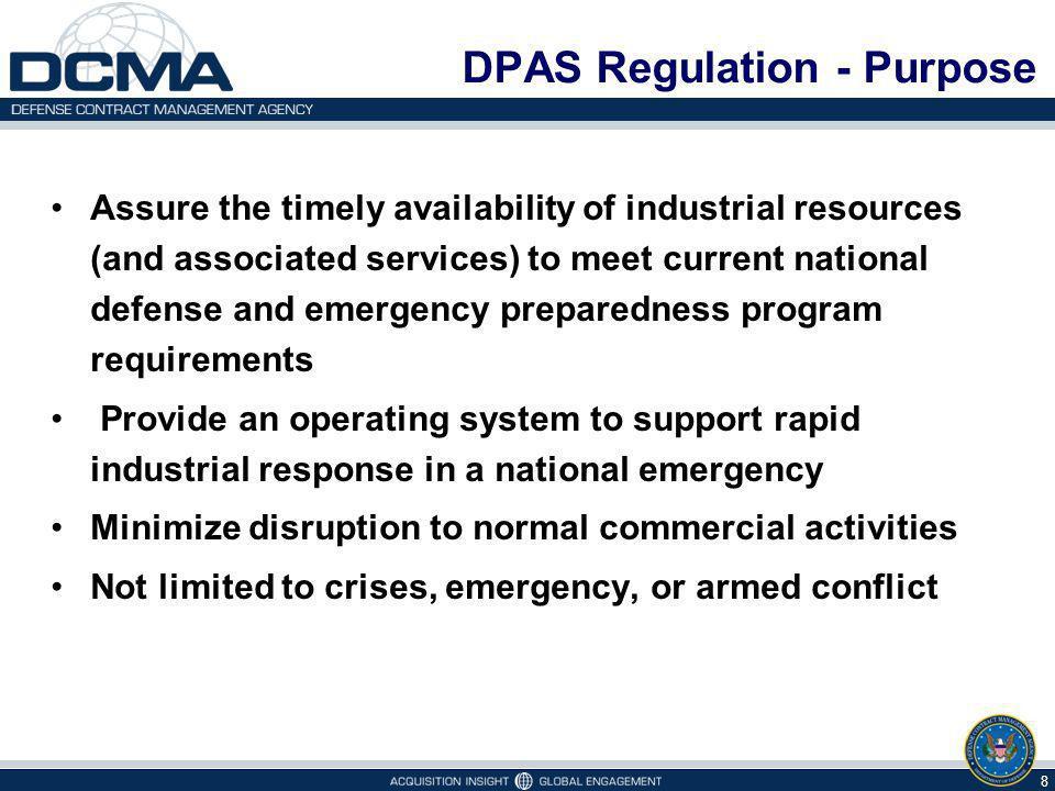 DPAS Regulation - Purpose