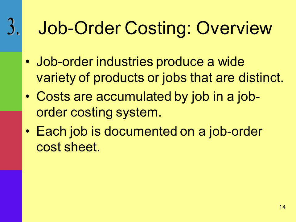 Job-Order Costing: Overview