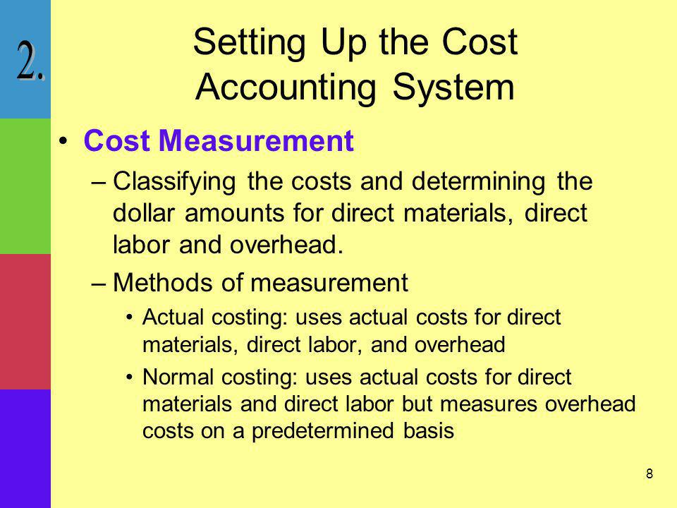 Setting Up the Cost Accounting System