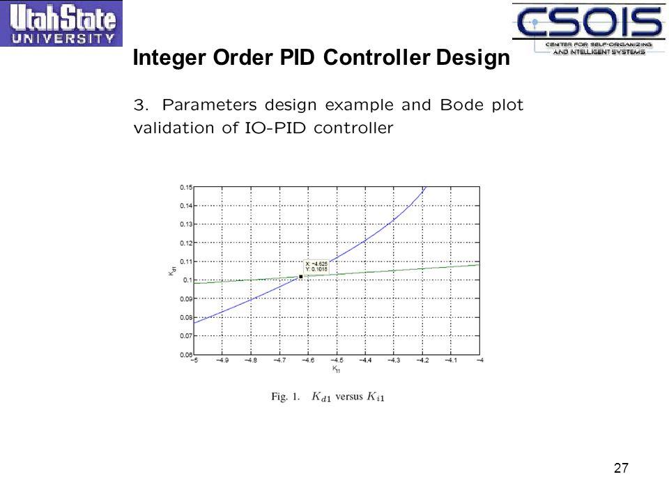 Integer Order PID Controller Design