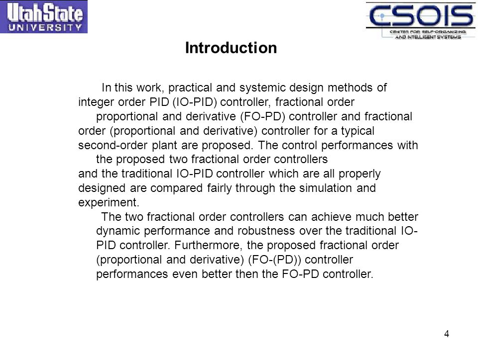 Introduction In this work, practical and systemic design methods of