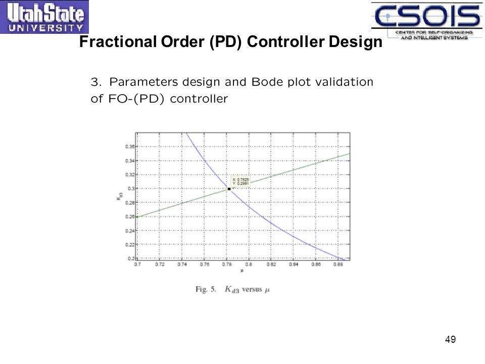 Fractional Order (PD) Controller Design