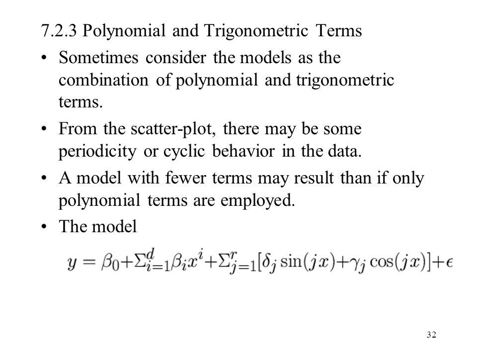 7.2.3 Polynomial and Trigonometric Terms