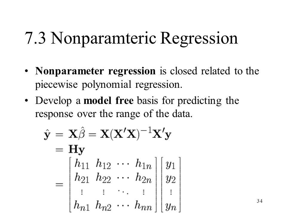 7.3 Nonparamteric Regression
