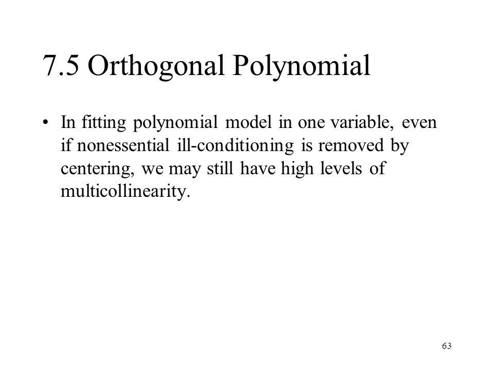 7.5 Orthogonal Polynomial