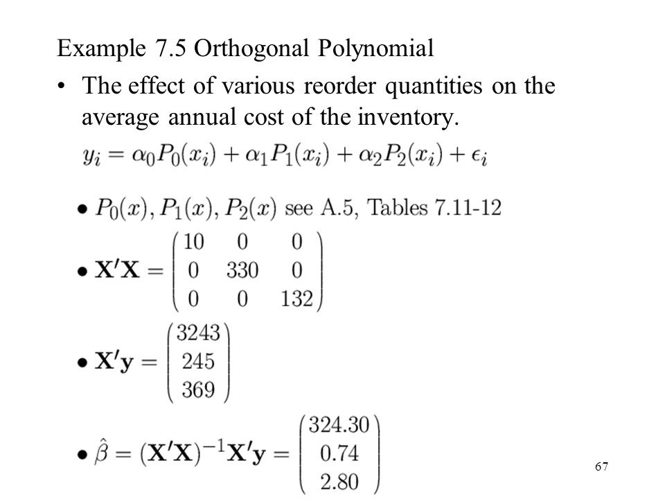 Example 7.5 Orthogonal Polynomial