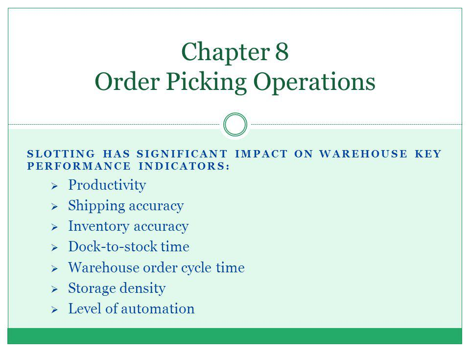 Chapter 8 Order Picking Operations