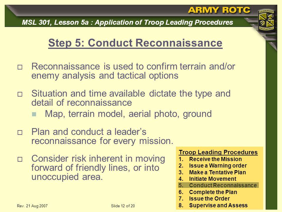 Step 5: Conduct Reconnaissance