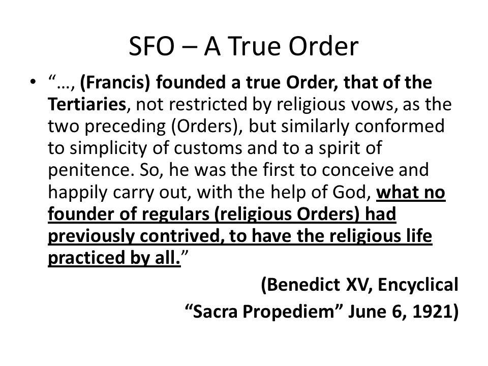 SFO – A True Order