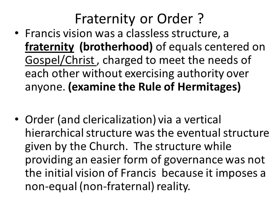Fraternity or Order