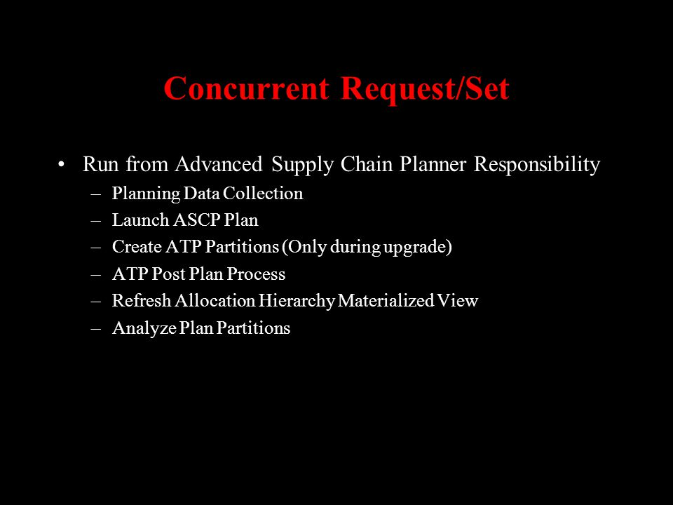 Concurrent Request/Set