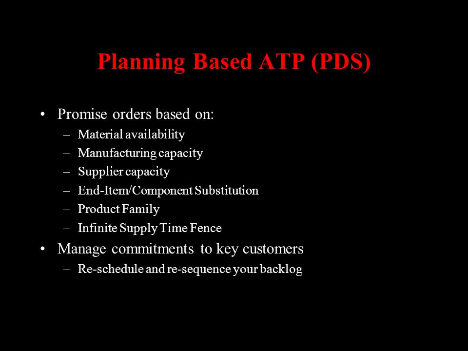 Planning Based ATP (PDS)