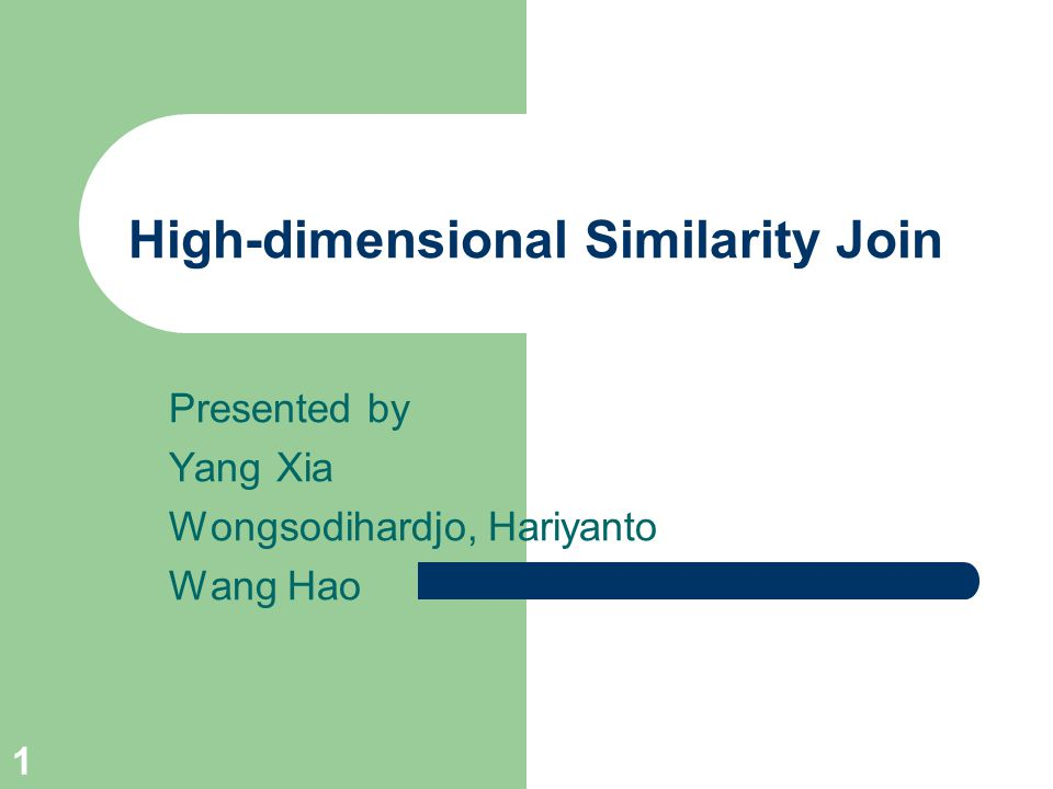 High-dimensional Similarity Join