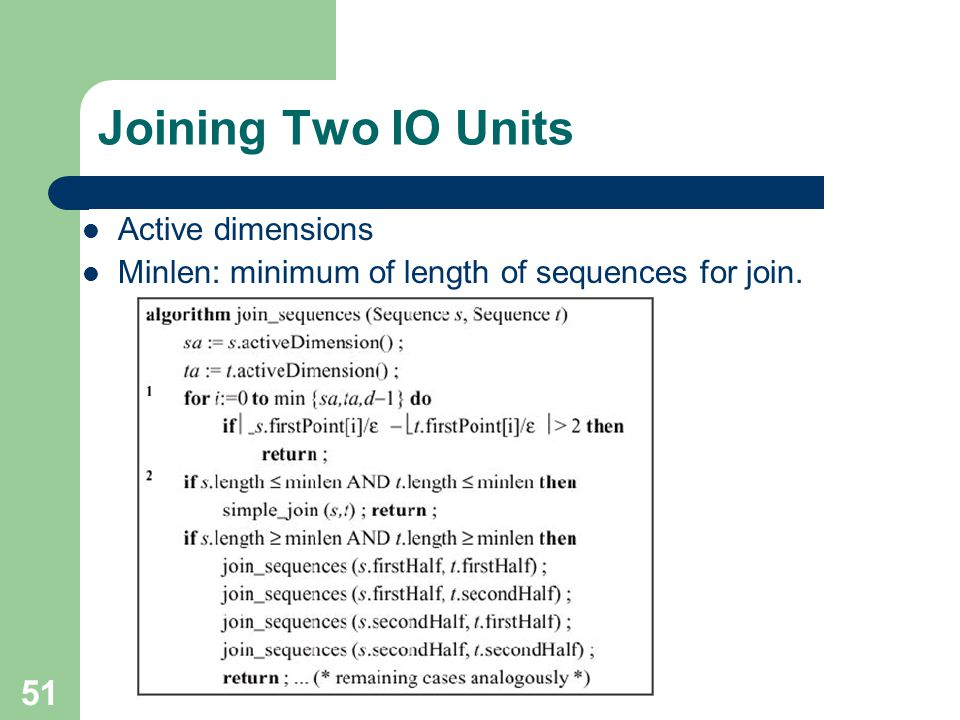 Joining Two IO Units Active dimensions