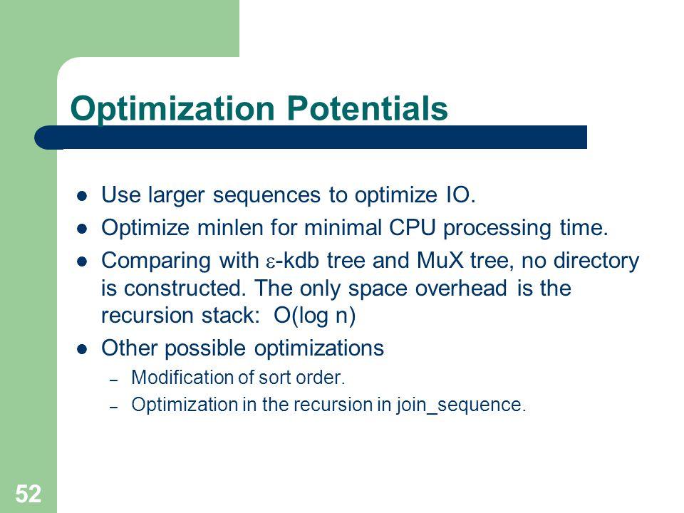 Optimization Potentials