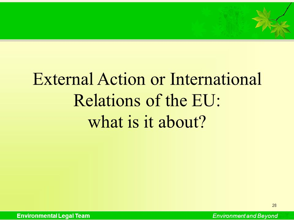 External Action or International Relations of the EU: what is it about